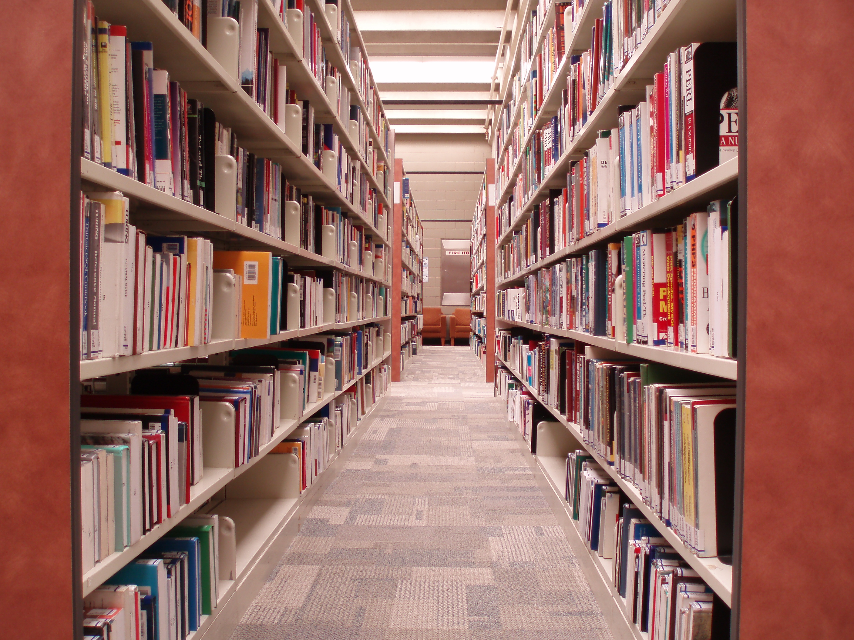 Miles and Miles of Knowledge in the library and on-line too
