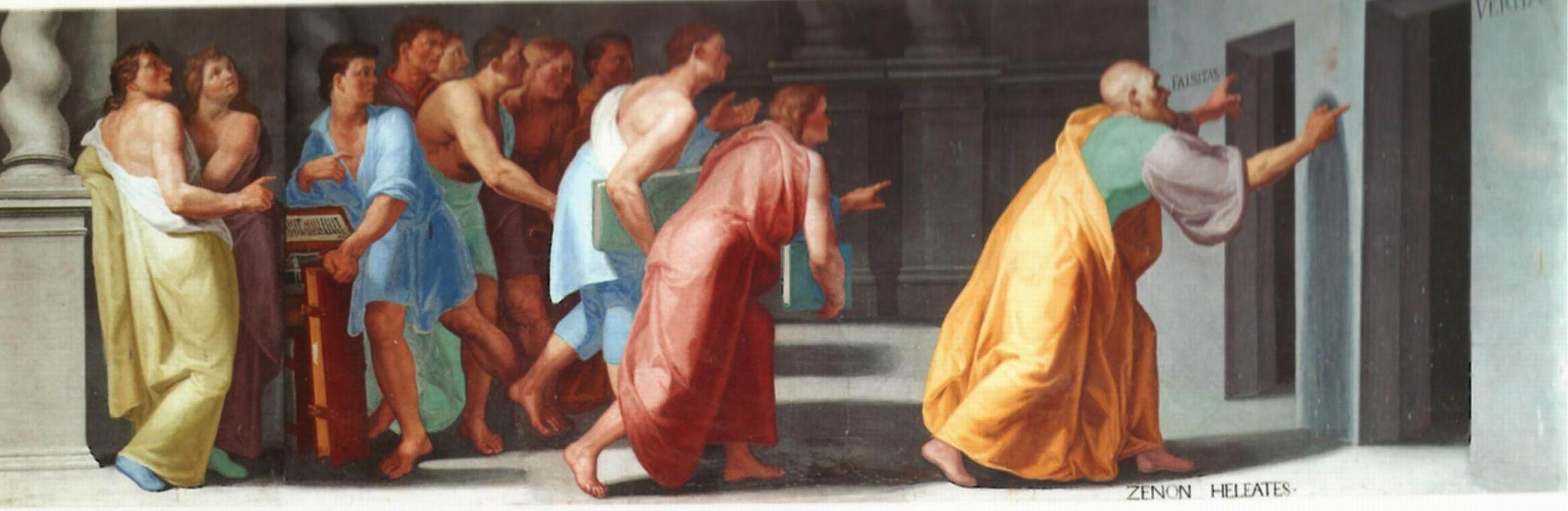 The Stoic Zeno shows the Doors to Truth and False