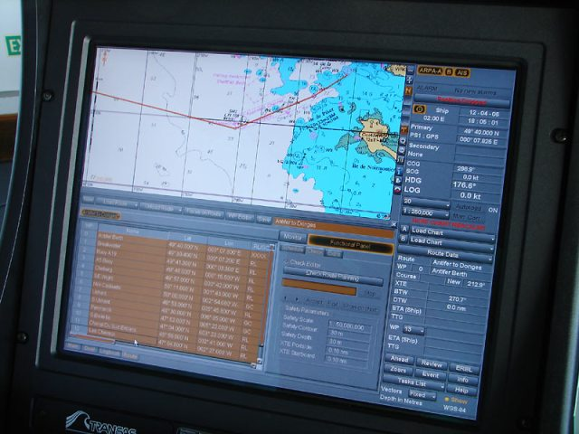 Electronic Chart Display and Information System -Navigation system on a meerchant ship