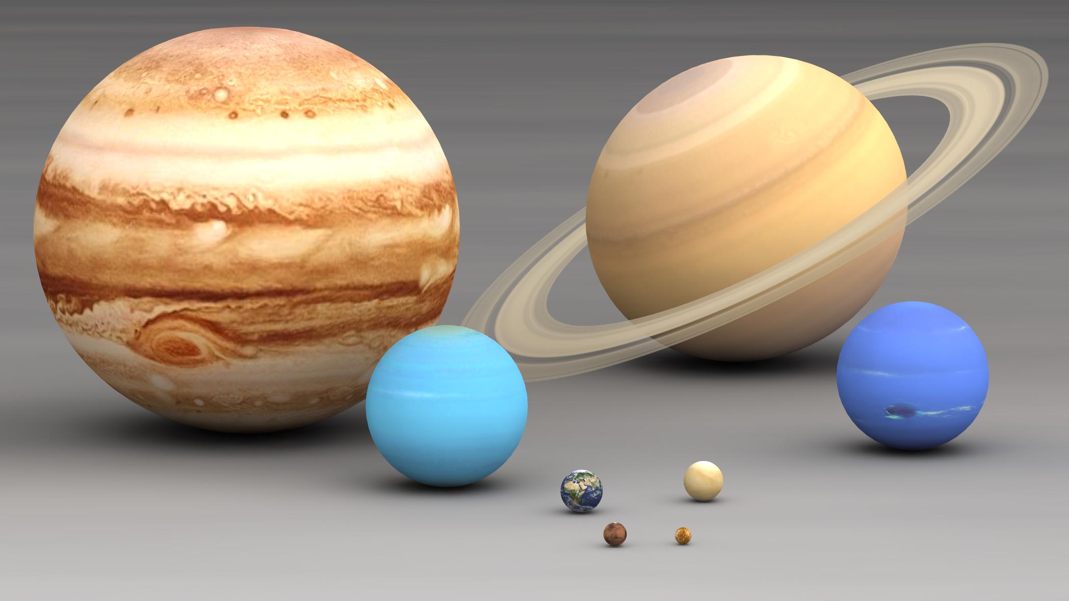 File Size Planets Comparison