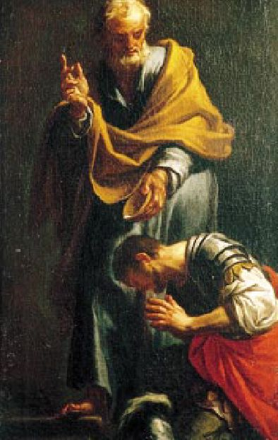 Peter Baptizing the Centurion Cornelius (Francesco Trevisani (1656–1746), Wikimedia Commons