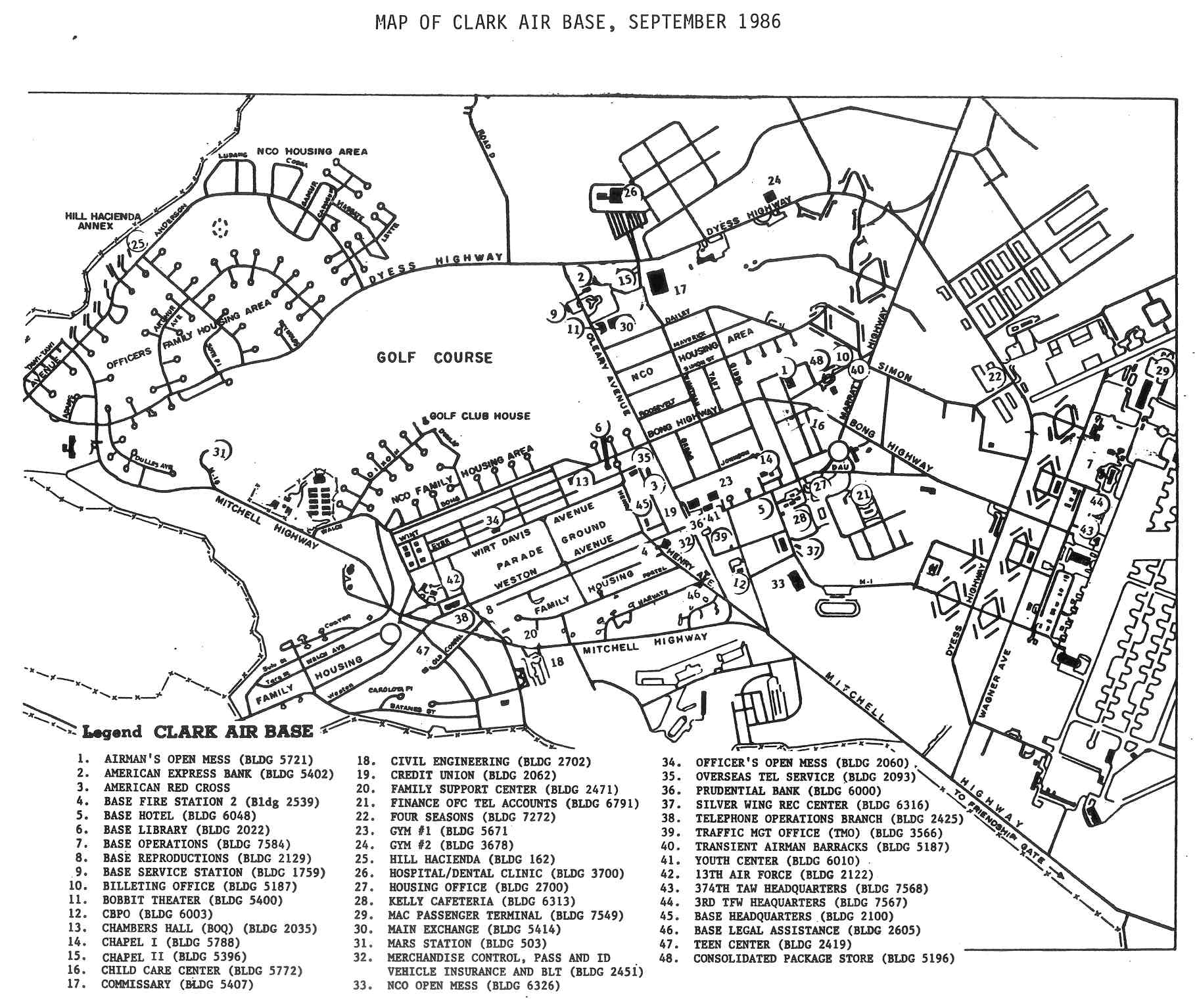 File Map Of Clark Air Force Base Philippines September