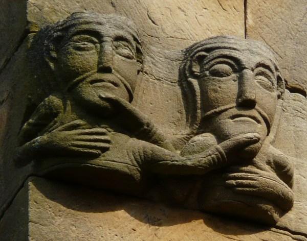 File Rosheim Romanesque Sculpture Busts Of Men Holding