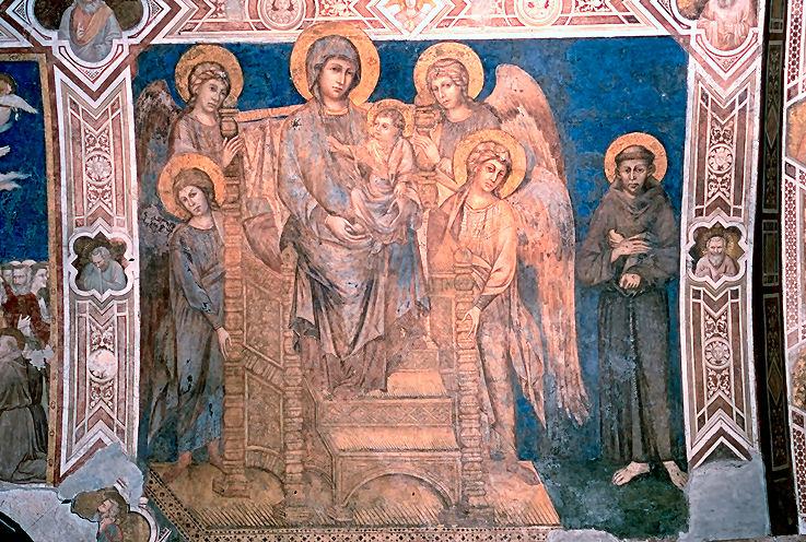 Cimbaue, Maesta i św. Franciszek