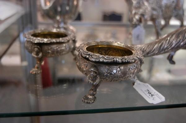 File Pair Of George Iv Irish Silver Chinoiserie Salt