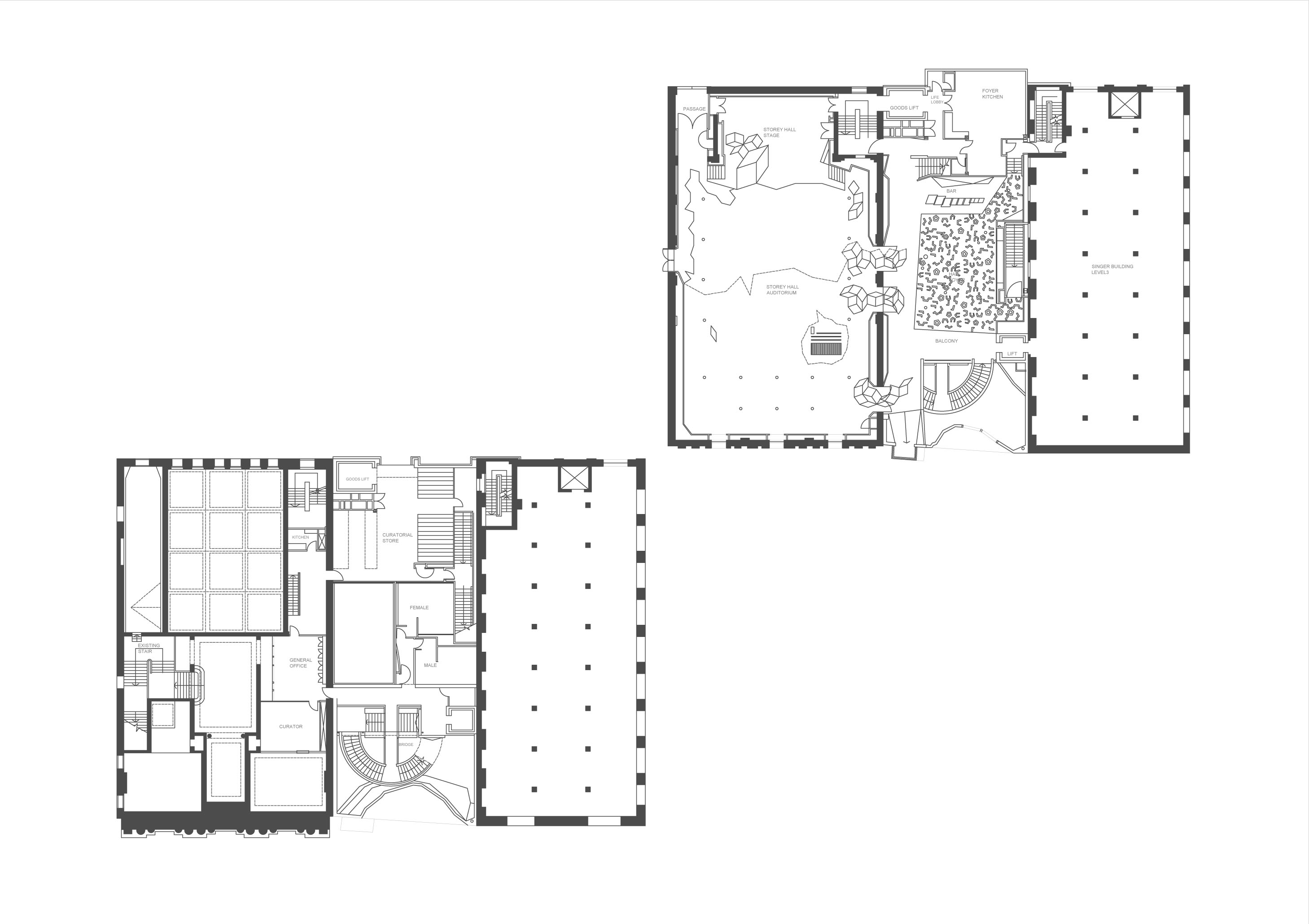 File Plan Drawing Of Storey Hall