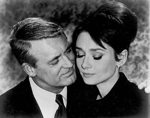 Screenshot from Charade showing Cary Grant and...