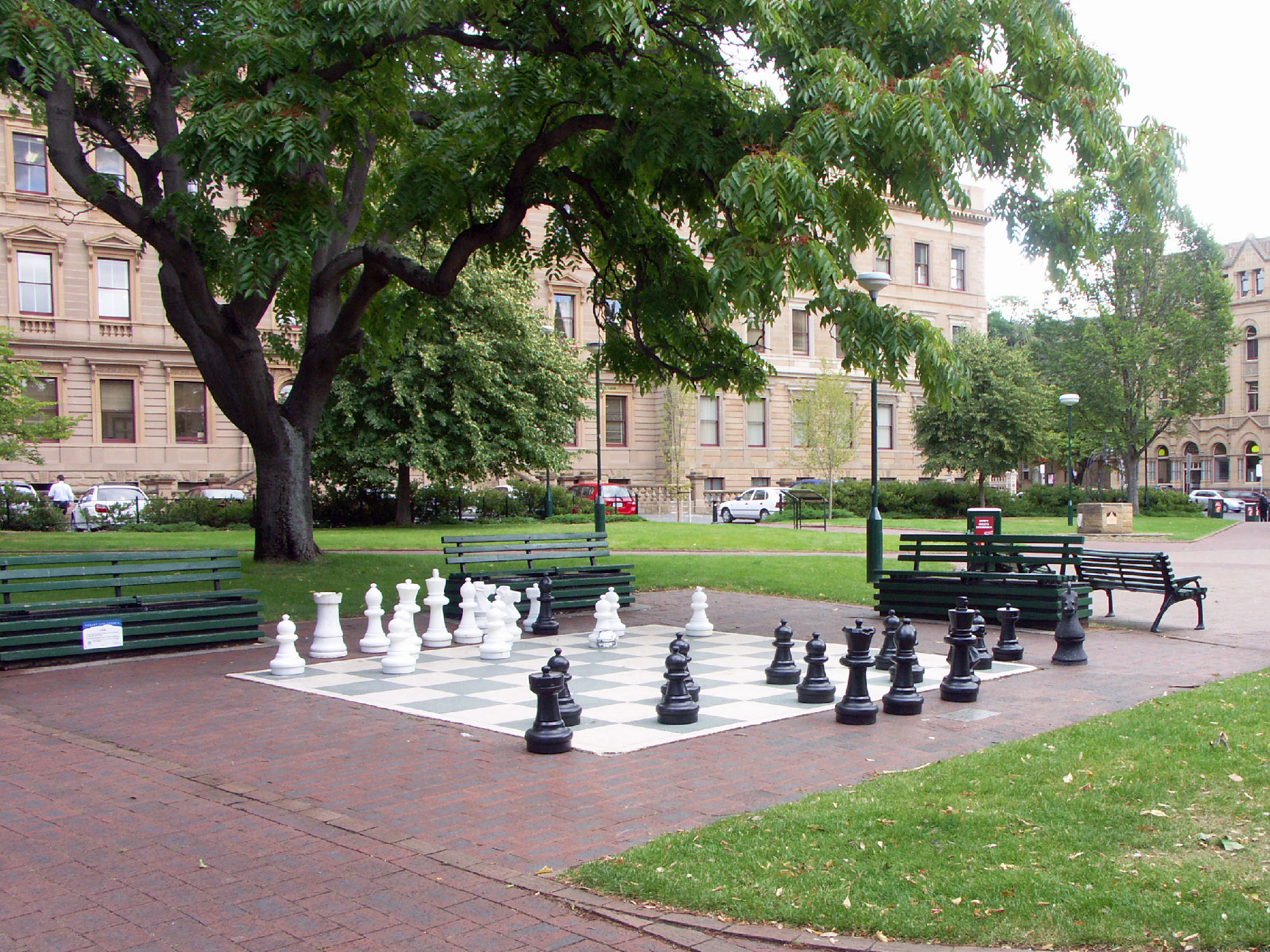 Giant chess game in Franklin Square, Hobart, T...