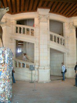 Escalera en Chambord