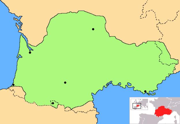 Occitania blanck map