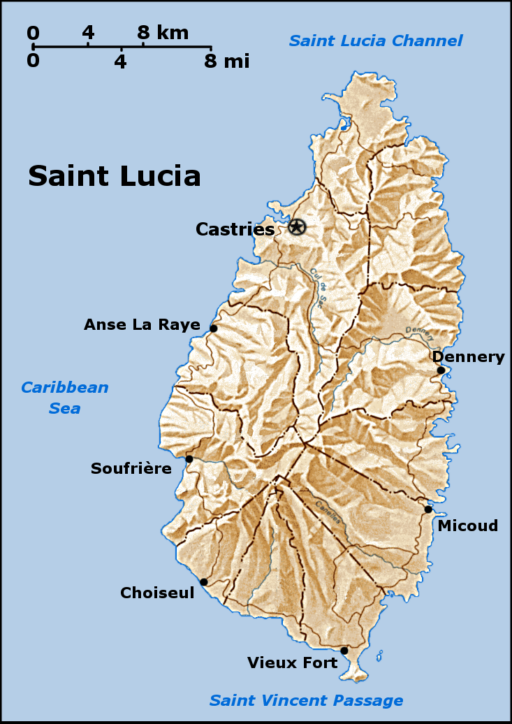 Where Is St Lucia Located On A Map : where, lucia, located, Geography, Saint, Lucia, Wikipedia