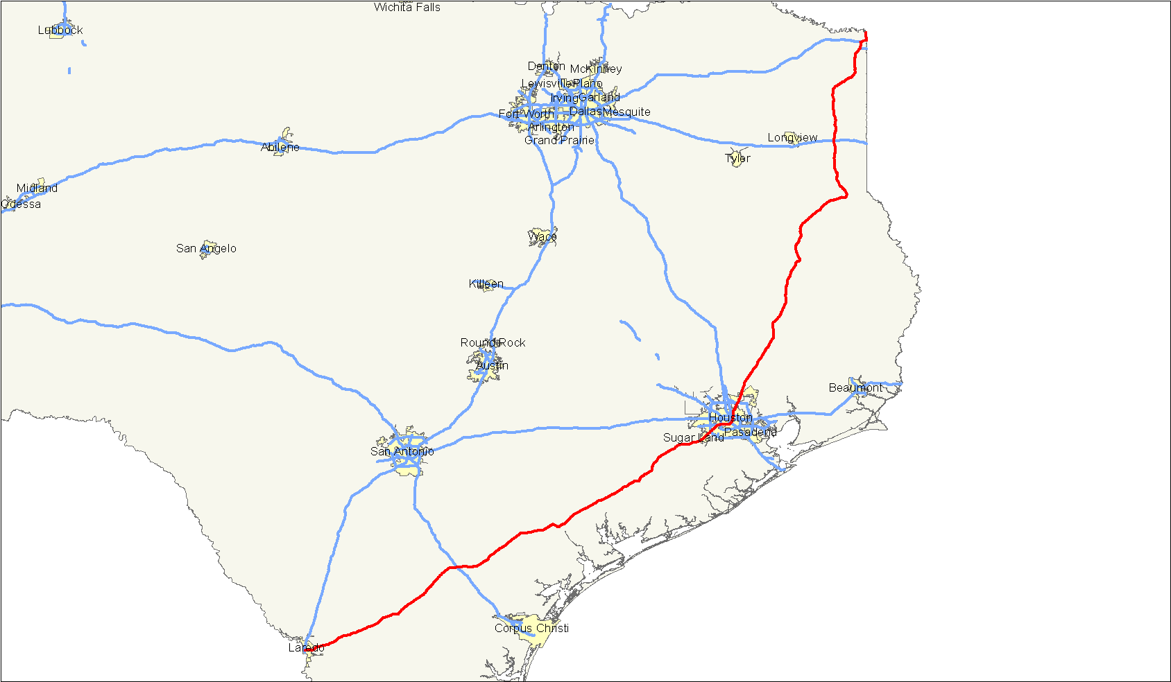 Explore the map of texas, the second largest state in the usa, by both area and population. File Us 59 Map Texas Png Wikimedia Commons