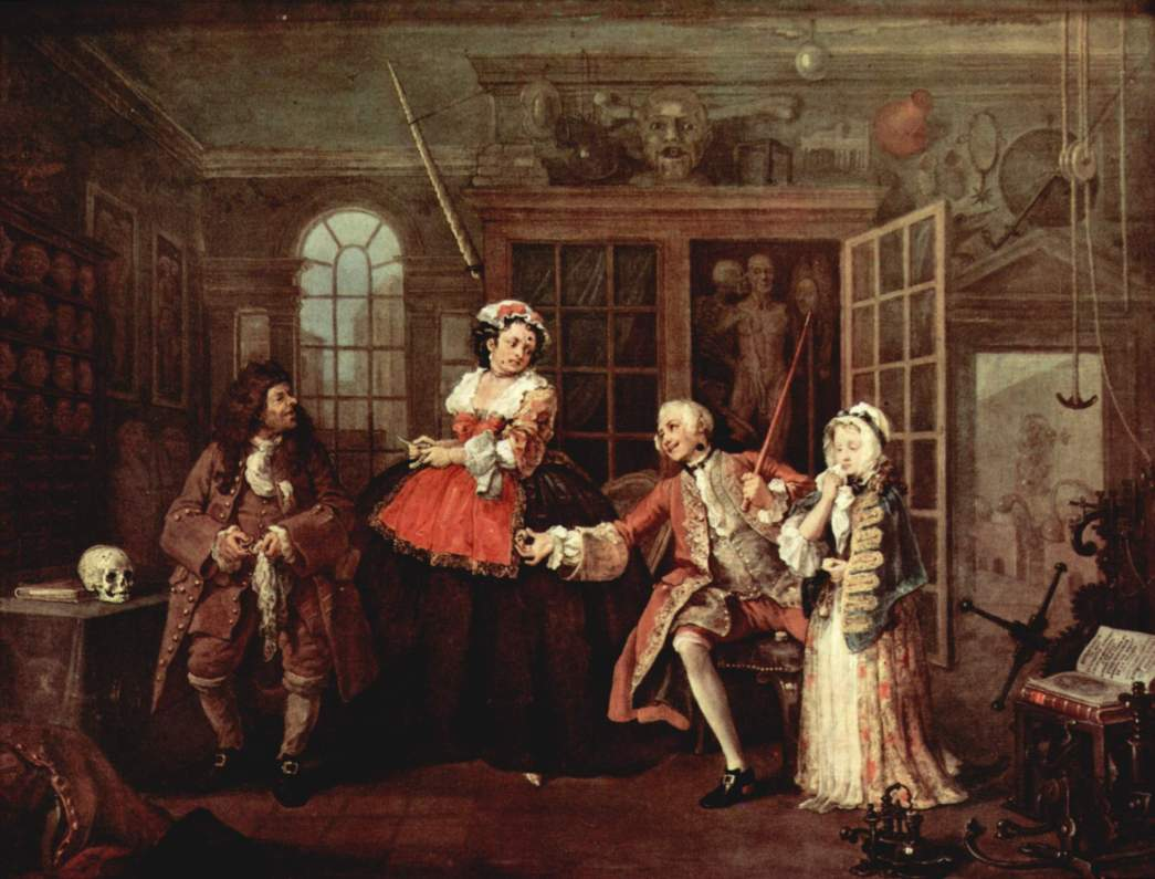 mariage-a-la-mode, William Hogarth, 1745