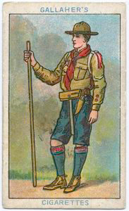 """The Boy Scout"" Boy Scout Cigarette Card"
