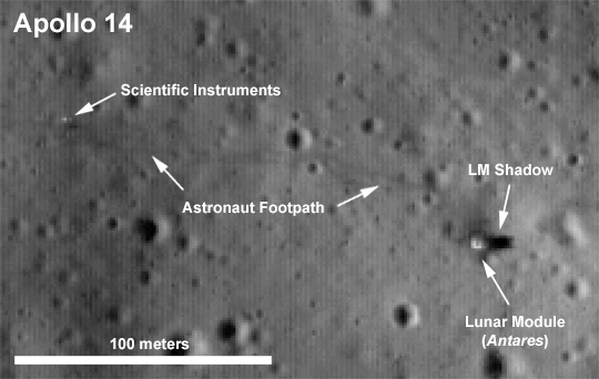 apollo 14 site LRO