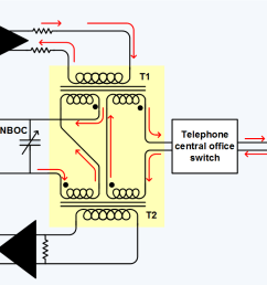 telephone hybrid wikipedia 2 line phone wire diagram 2 wire phone diagram [ 1133 x 710 Pixel ]