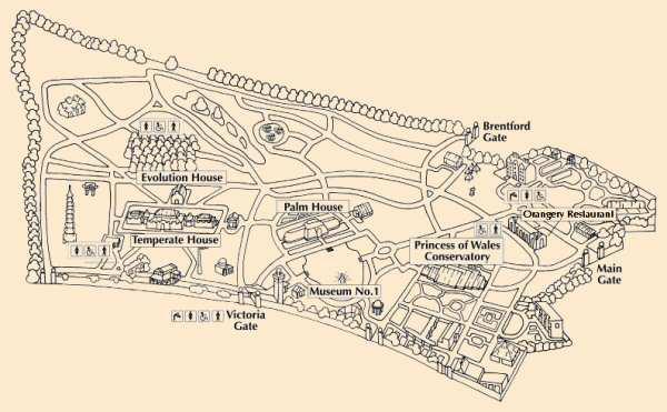 Plan de Kew gradens