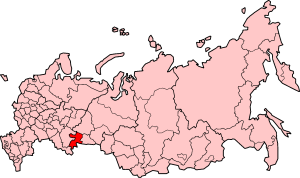 Chelyabinsk Oblast on Russia map