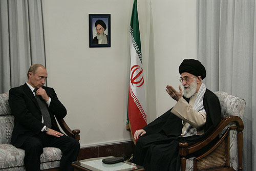 English: TEHRAN. With Ayatollah Sayed Ali Kham...