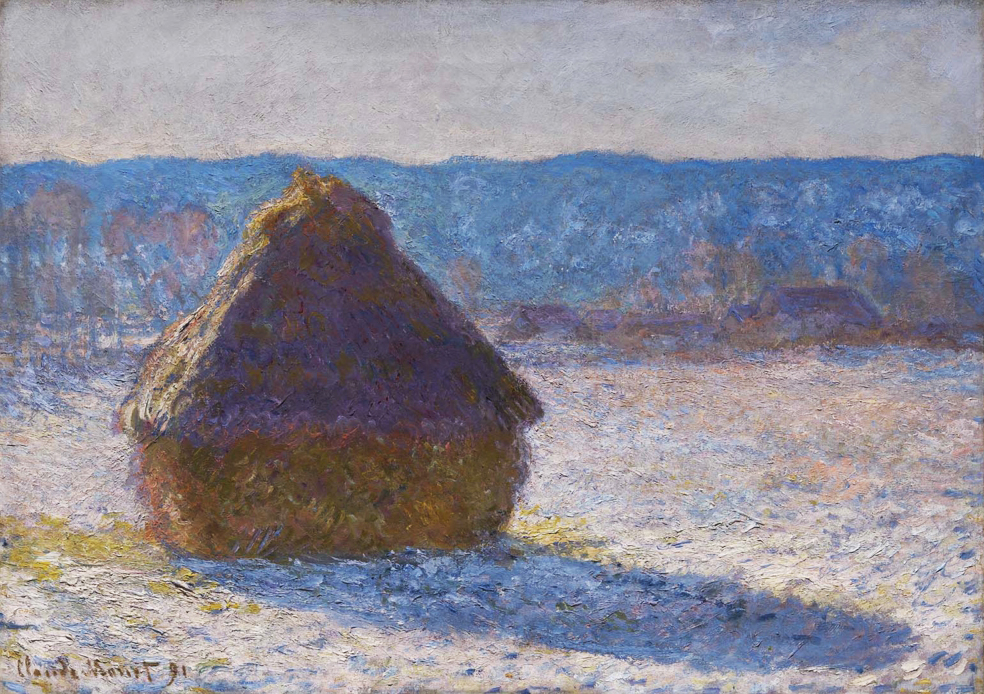 File:Claude Monet, Haystack, Morning Snow Effect (Meule, Effet de Neige, le Matin), 1891, oil on canvas, 65 x 92 cm, Museum of Fine Arts, Boston.jpg