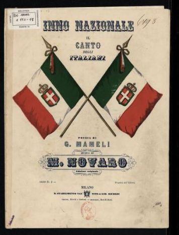 Copertina libretto mameli