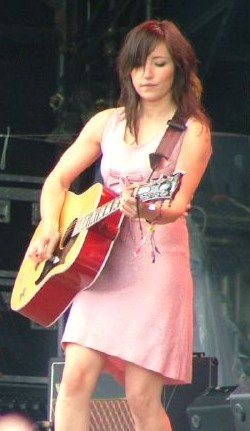 KT Tunstall performing at the 2005 Glastonbury...