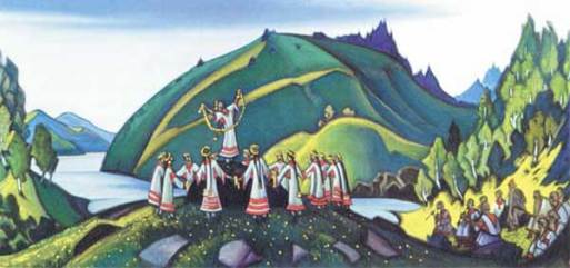 "Nicholas Roerich's ""Rite of Spring"" painting"
