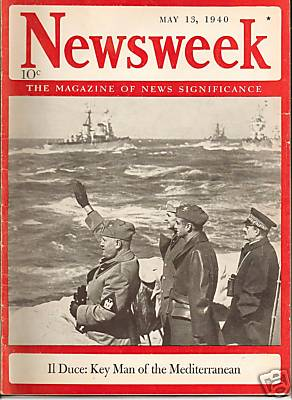English: Cover of the May 13, 1940 issue of Ne...