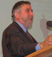 "English: ""Paul Krugman lectured on ""..."