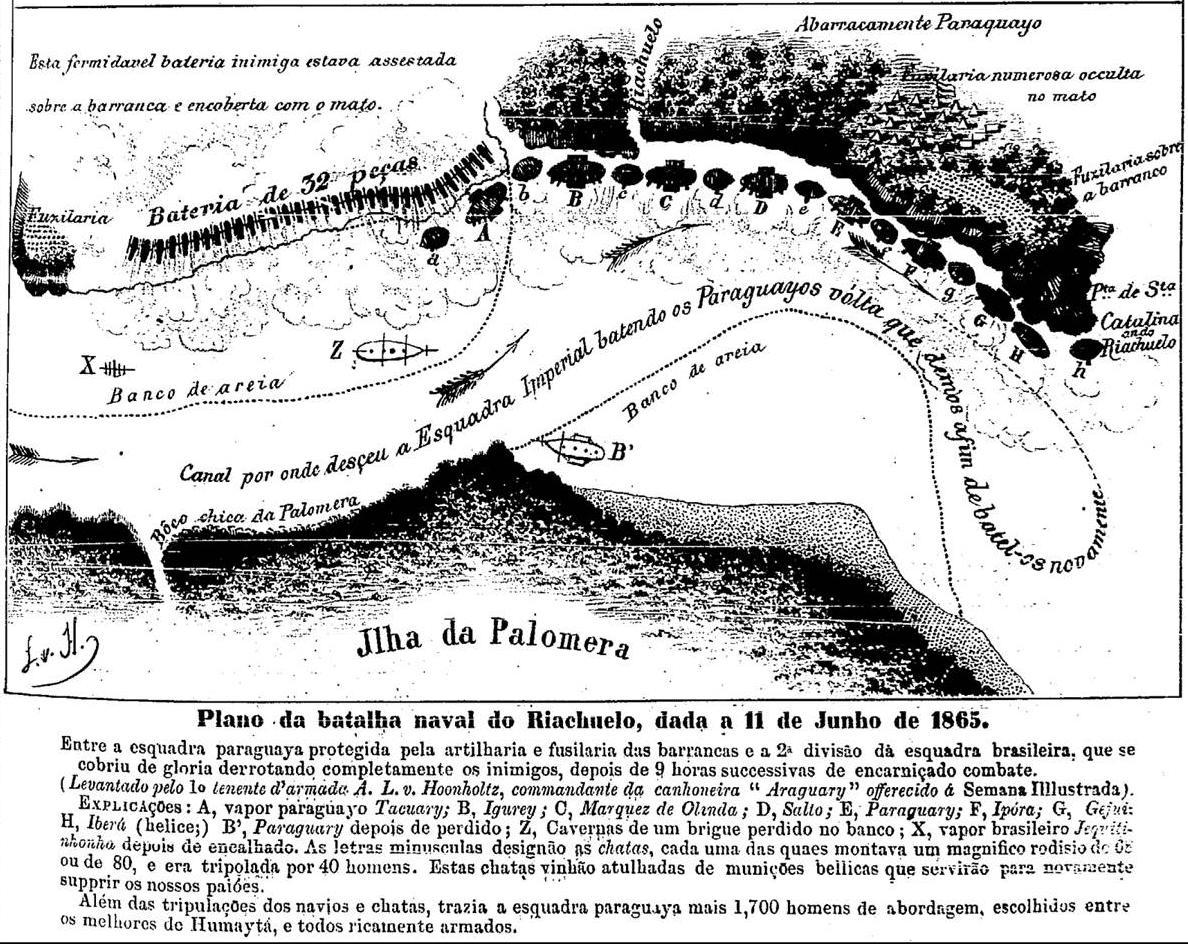 File:Plano da batalha naval do Riachuelo, dada a 11 de