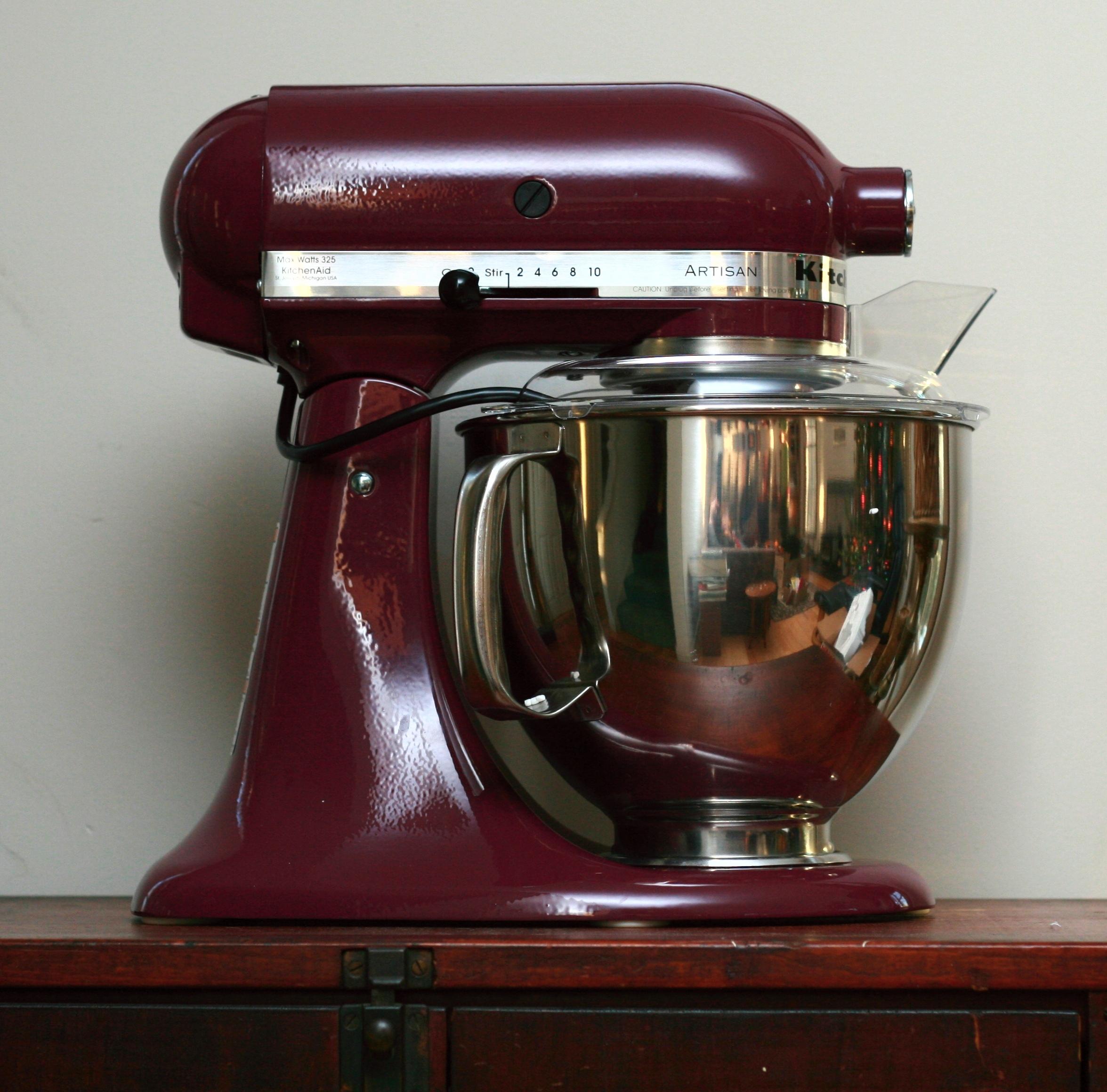 red kitchen aid mixer refurbished kitchens for sale file kitchenaid artisan jpg wikimedia commons