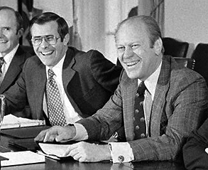 English: President Gerald Ford and Secretary D...