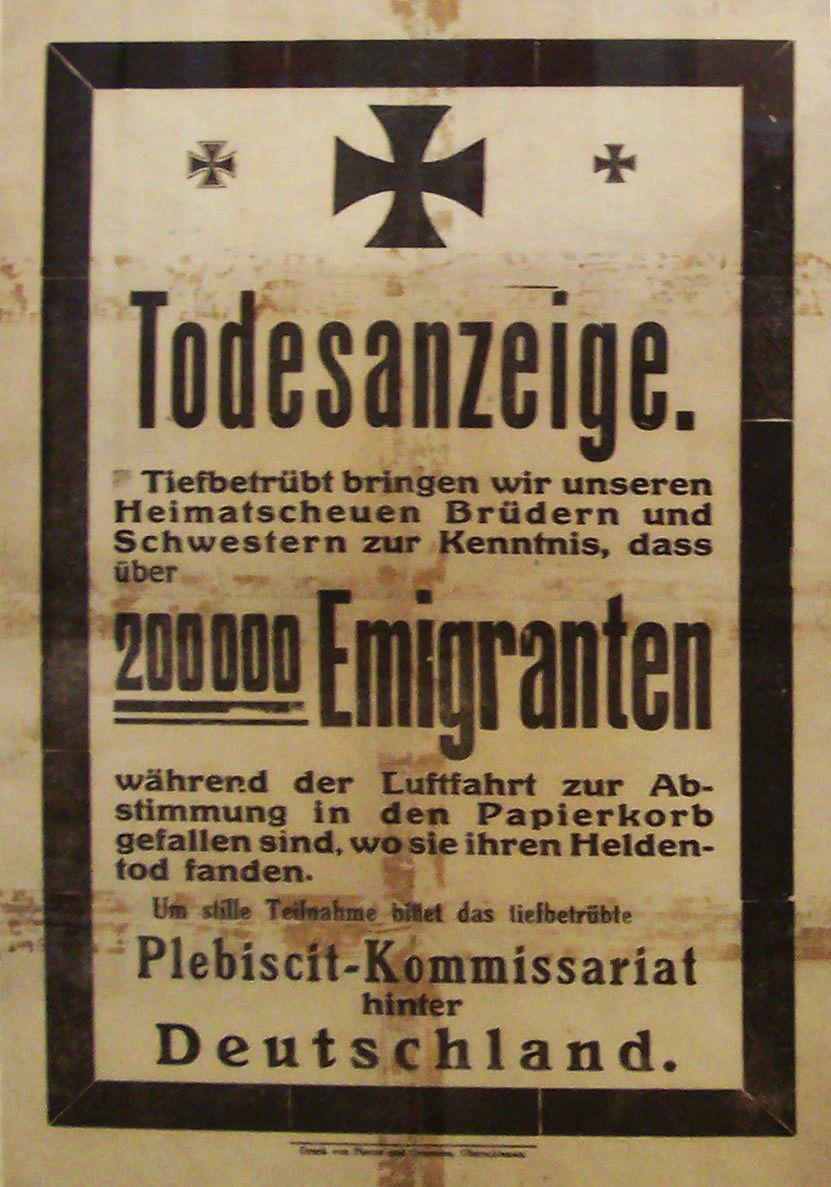 File German Propaganda Poster Upper Silesia Plebiscite 4
