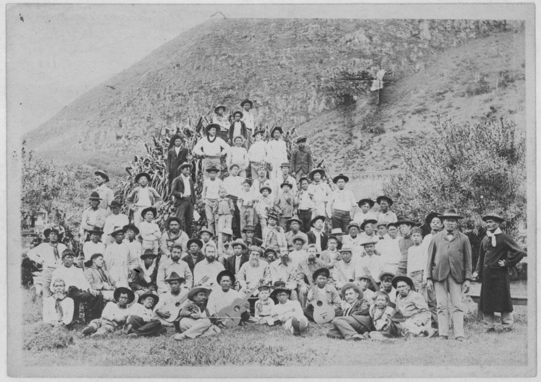 English: The Kalaupapa leper colony in 1905. T...