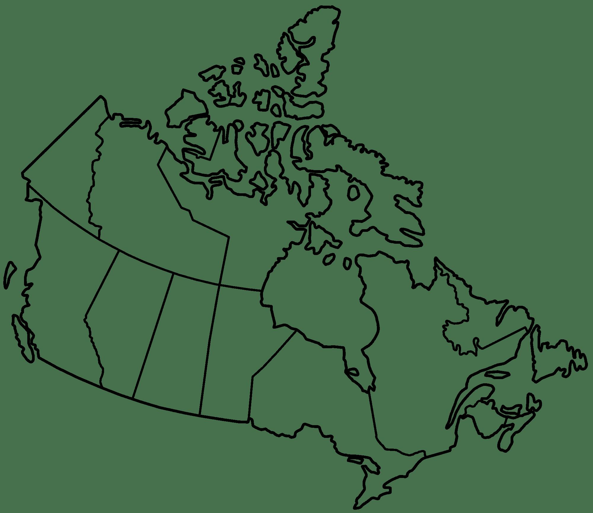 Blank Canada Map