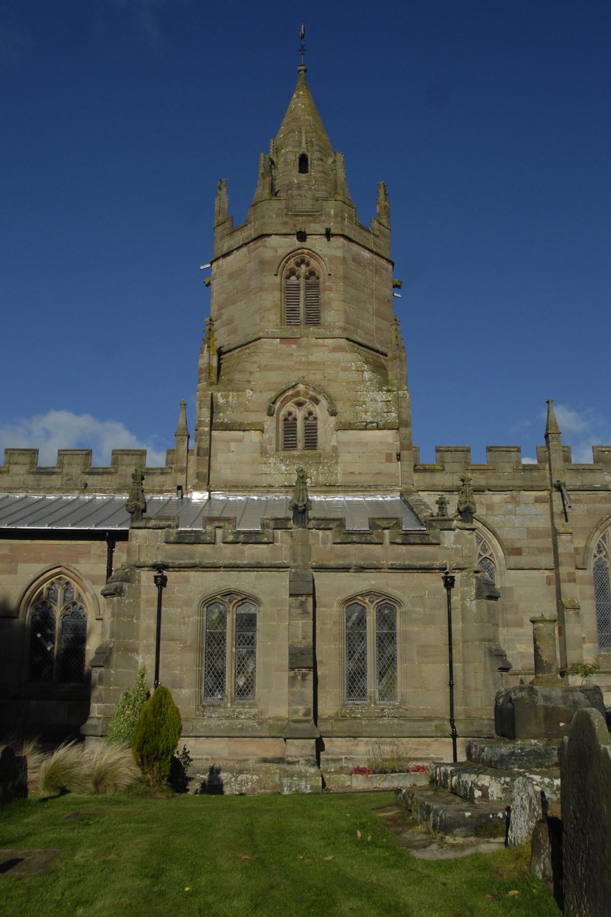 File:Crossing tower of St Bartholomew's Church, Tong, Shropshire