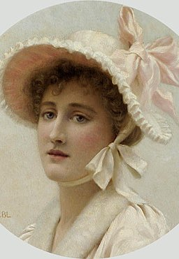 Edmund Blair Leighton - The Pink Bonnet