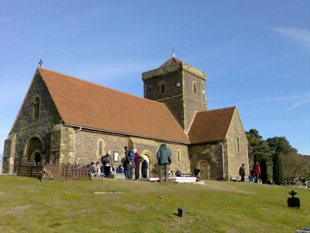 English: The church of St Martha-on-the-Hill i...