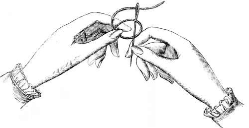 File:Fig. 1. Knotting the thread into the needle.jpg