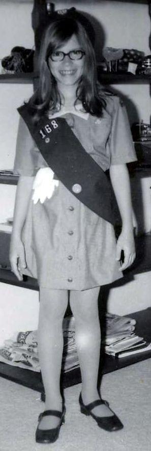Girl Scout in uniform