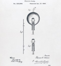 u s patent 223898 electric lamp issued january 27 1880  [ 2128 x 3120 Pixel ]