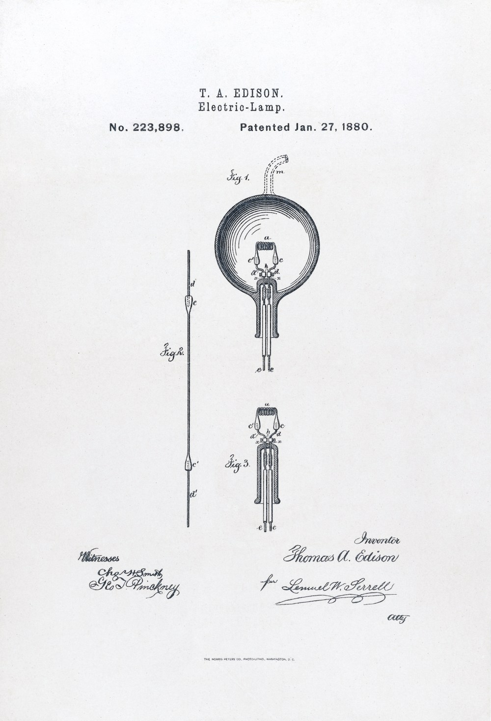 medium resolution of u s patent 223898 electric lamp issued january 27 1880