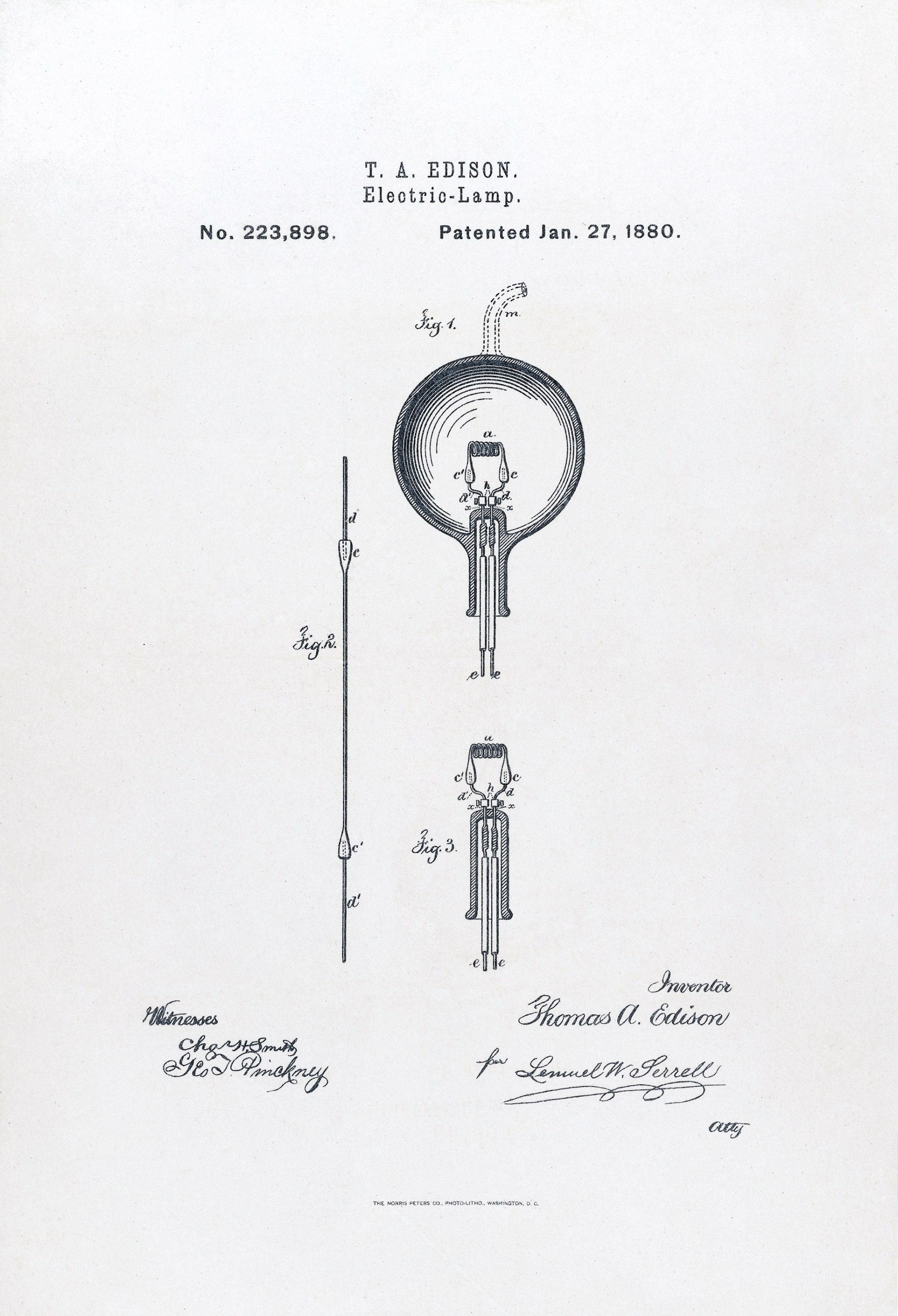 hight resolution of u s patent 223898 electric lamp issued january 27 1880