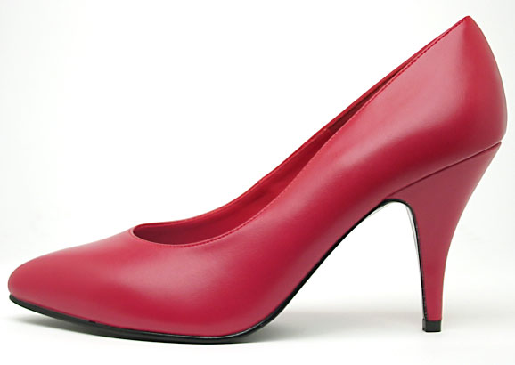 file red high heel