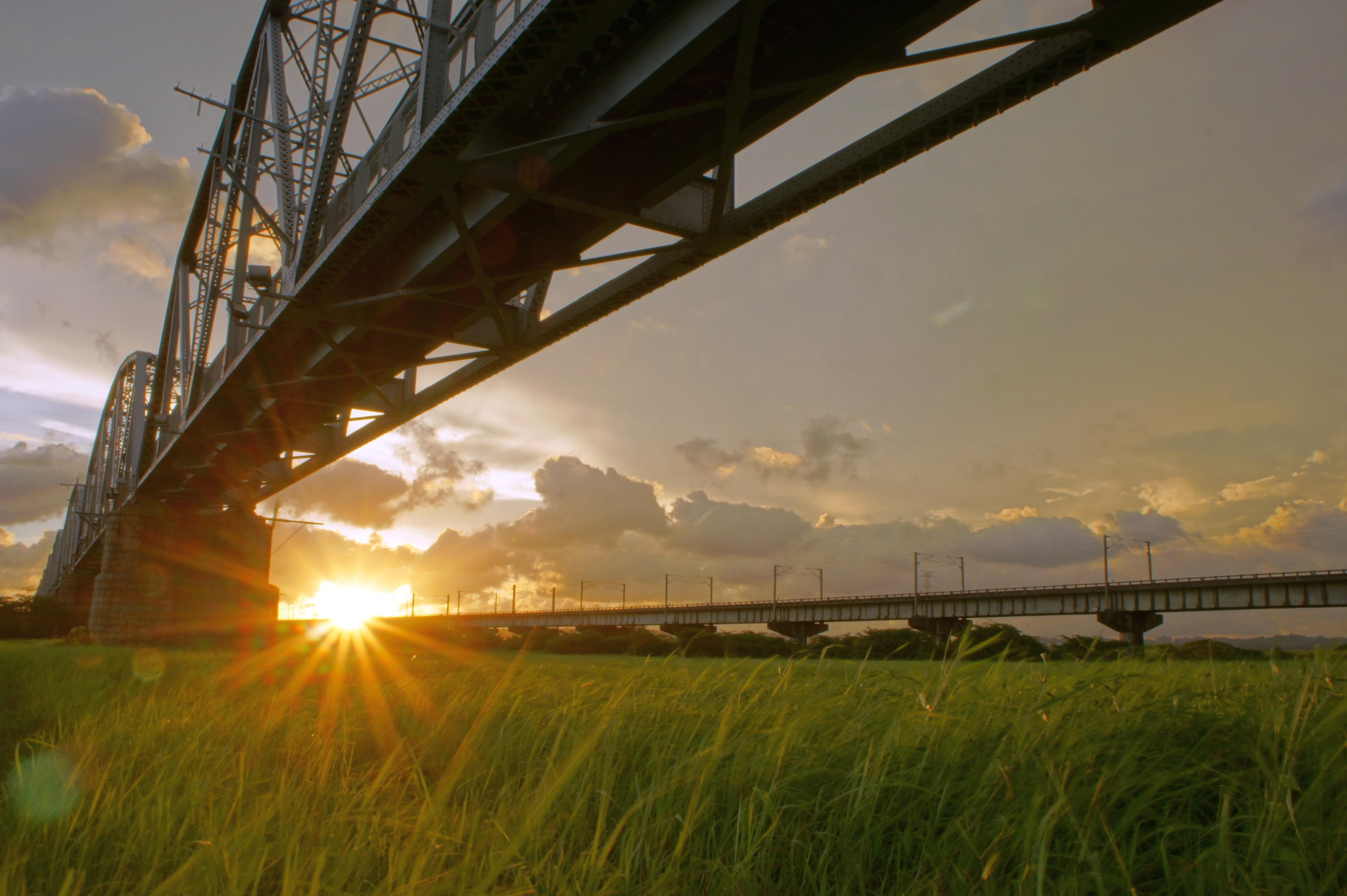 File:高屏溪「舊鐵橋」夕照.JPG - 維基百科。自由的百科全書