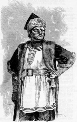 Atila.  De una ilustración para la Edda Poética.