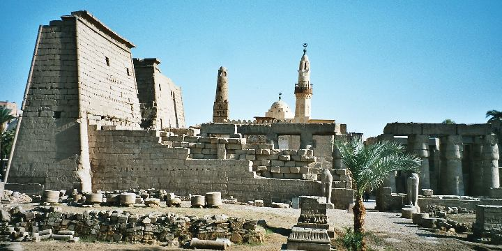 Thebes (Luxor Temple pictured) was the capital...