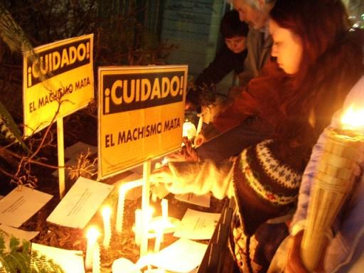 Memorial femicide protest chile