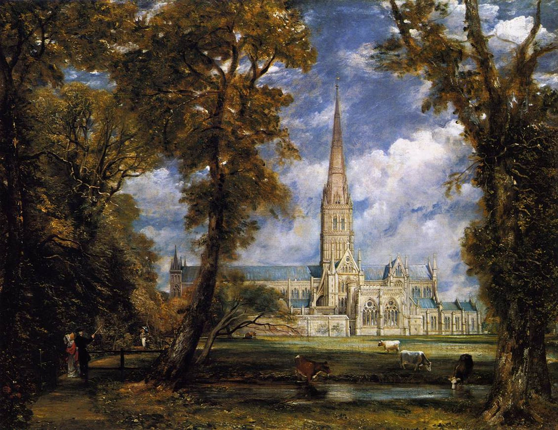 Salisbury Cathedral by John Constable
