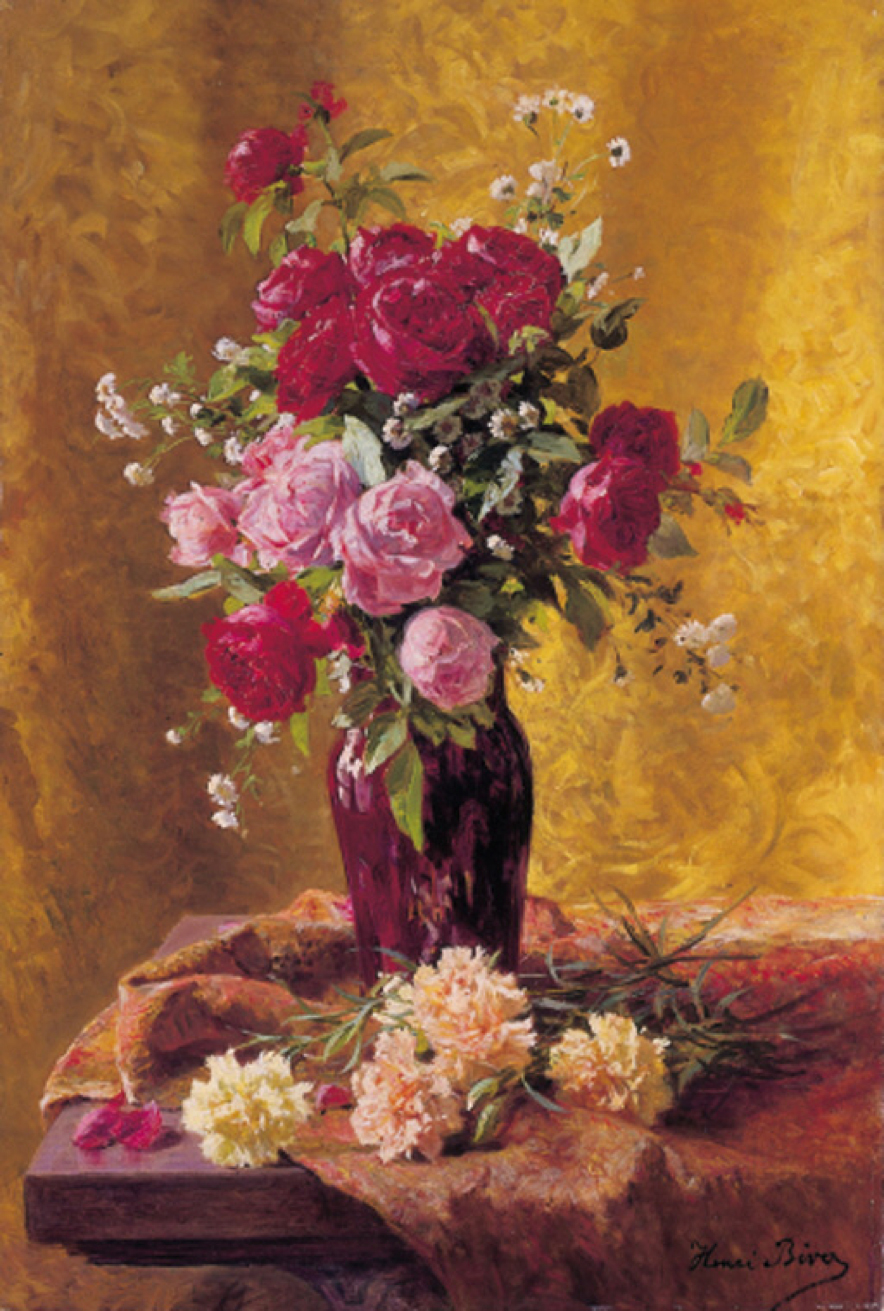 Dimensions Of A Wallpaper For Iphone X File Henri Biva A Vase Of Roses With Carnations On A